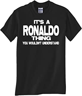 STUFF WITH ATTITUDE Ronaldo Thing Black T Shirt
