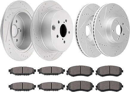 Forester Front  Drilled Brake Rotors+Ceramic Brake Pads Fit Subaru XV Crosstrek