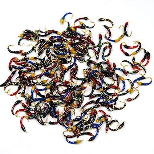 L-MEIQUN, 20 stücke Verschiedene Epoxy Nymphe Fliegen Midge Hegene Forelle Weißfisch Fischköder Kunstköder Größe 12 14 16 18 (Color : 20pcs Size 10 Mix)