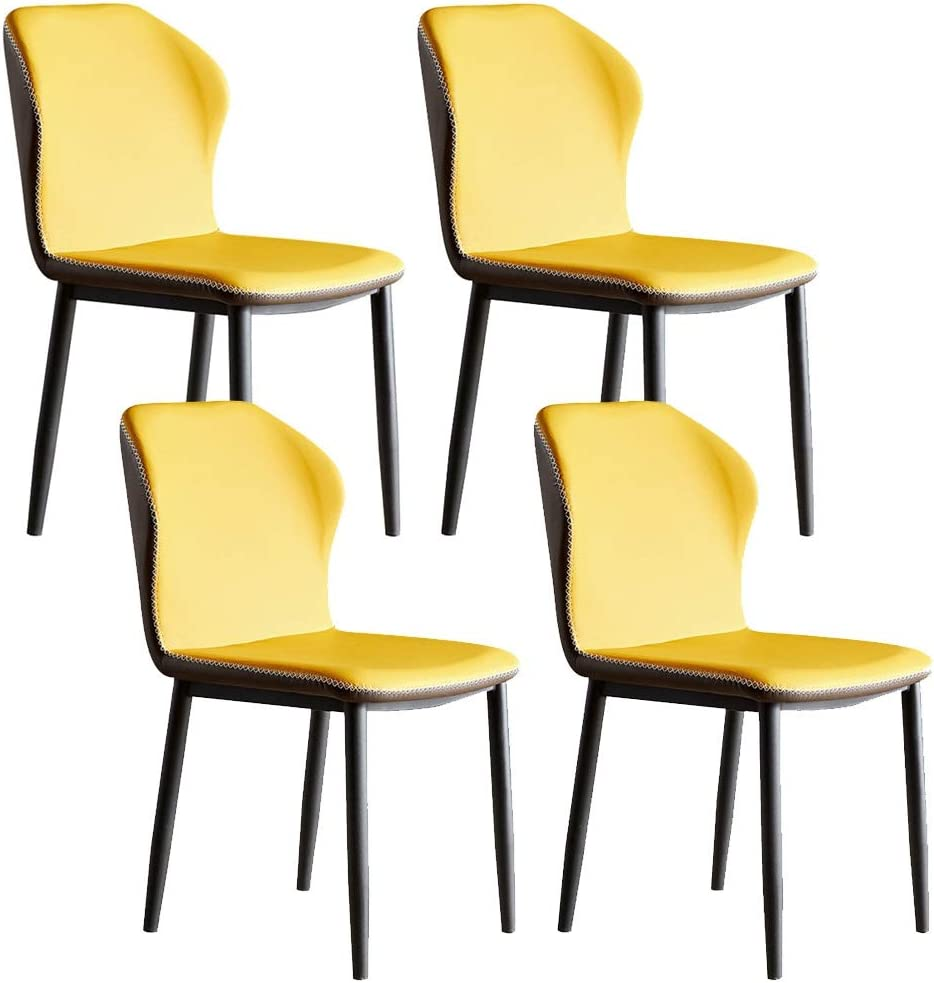 WERTYG Set of 4 Retro Phoenix Mall Dining Chairs PU Waterproof Max 74% OFF Chair Leather