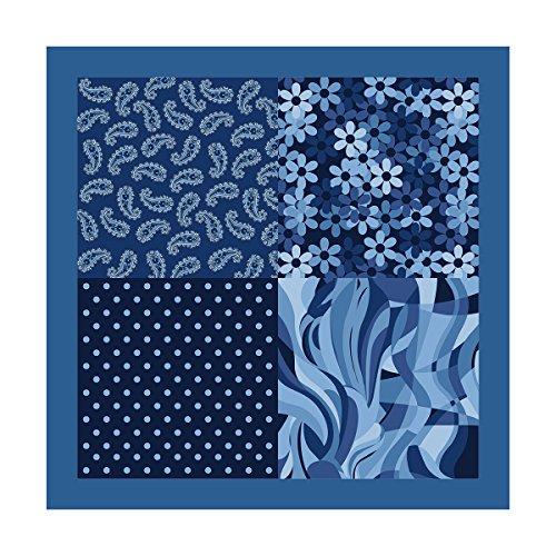 Tessago Mouchoir de poche de 100% polyester cm 30 x 30 Made in Italy 300051
