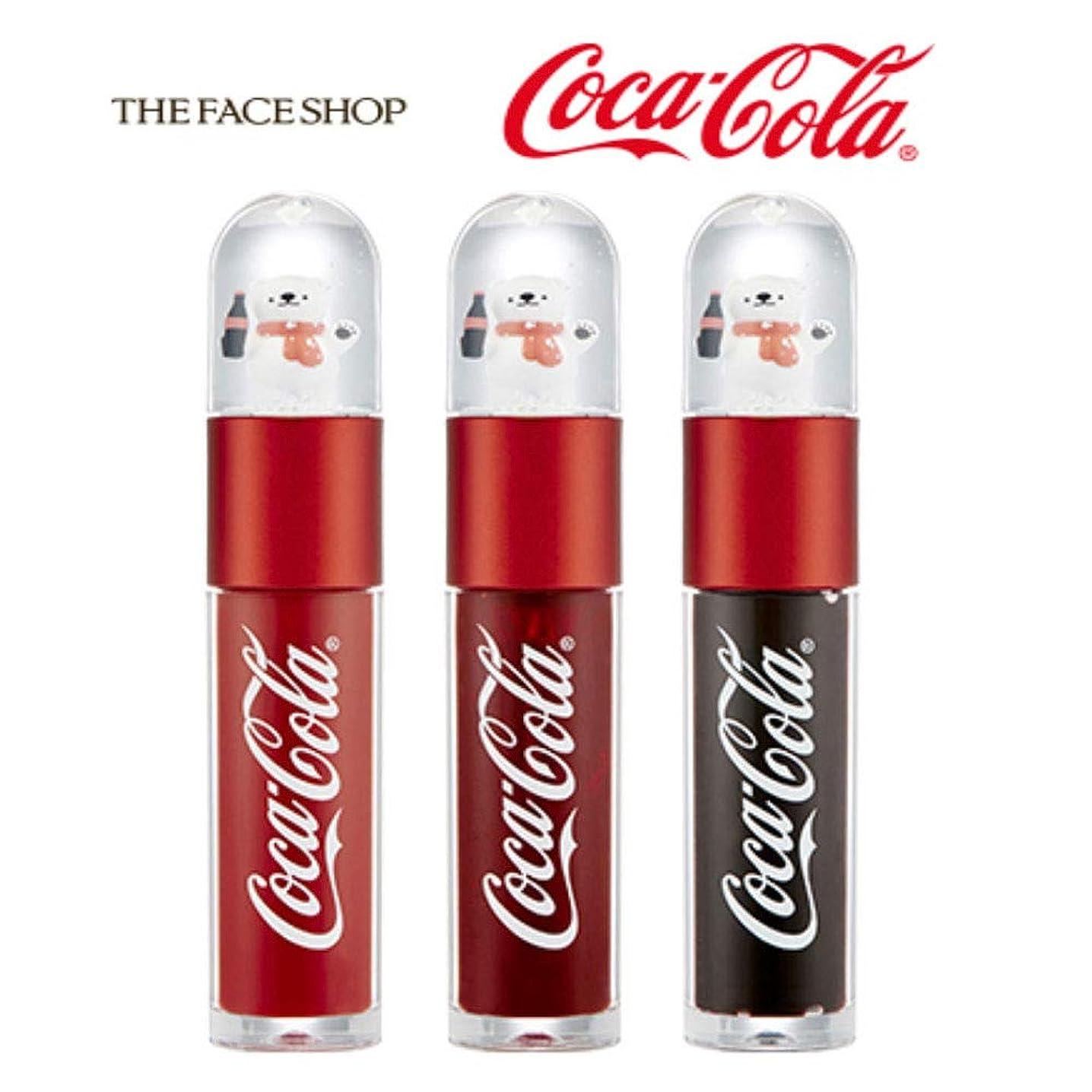 敬の念古代痛みザ?フェイスショップ THE FACE SHOP コークベア リップティント 5.5g 限定版 3色セット Coke Bear Lip Tint 5.5g Limited Edition
