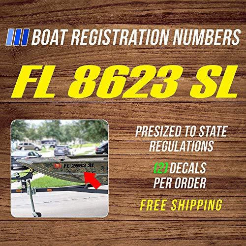 Boot Registratie Hull Numbers auto Sticker, Vinyl Auto Decal, Decor voor raam, Bumper, Laptop, Muren, Computer, Thmbler, Mok, Beker, Telefoon, Vrachtwagen, Auto Accessoires