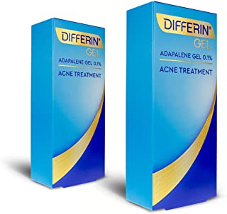 Acne Treatment Differin Gel, Acne Spot Treatment for Face with Adapalene, 15 Gram, 60-Day Supply (Pack of 2)