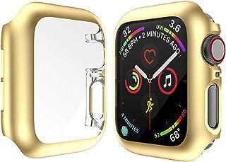 ZAALFC Funda de Armadura Dura para Apple Watch Series 4 Fotograma Cubierta de Parachoques Protectora Completa para iWatch ...