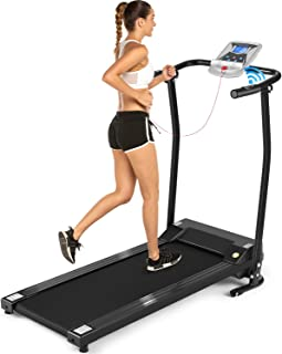 ANCHEER Folding Treadmill, Electric Running Machine with LCD Screen, Portable Fitness Treadmill for Home, Office, Gym(US Stock)