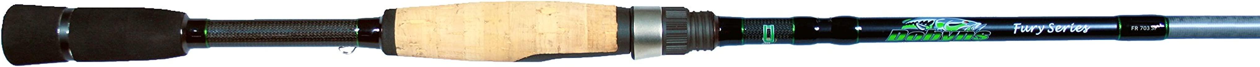 Dobyns Rods Fury Series FR 702SF Medium/Light Power Fast Action Spinning Rod, 7'0