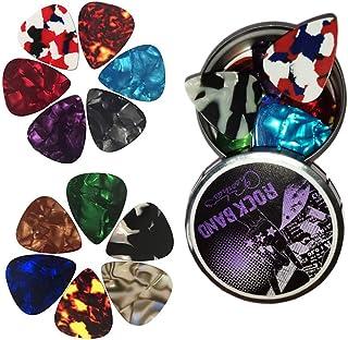 12 médiators pour guitare, médiators pour guitare acoustique, guitare électrique, ukulélé, basse, accessoires pour guitare...