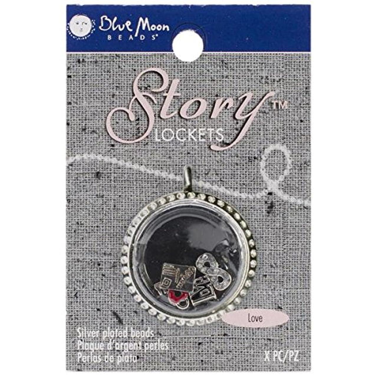 Blue Moon Beads SLKCHRM-221 Story Lockets Metal Charm, Love, Assortment, 5-Pack