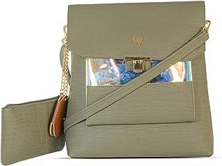 Baggit Spring-Summer 2021 Faux Leather Women's Backpack Handbag (Green) (Mcdowell)