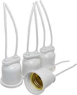 E-outstanding 4 PCS E27 Base Socket Bulb Lamp Holder Pendant Hanging Edison Screw Cap Standard Screw-in Socket Waterproof White 250V 16A