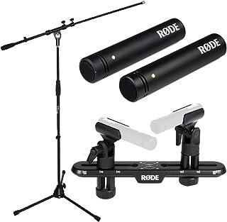 Rode M5MP Juego de micrófono + Soporte para micrófono KEEPDRUM + Rode micrófono estéreo Bar