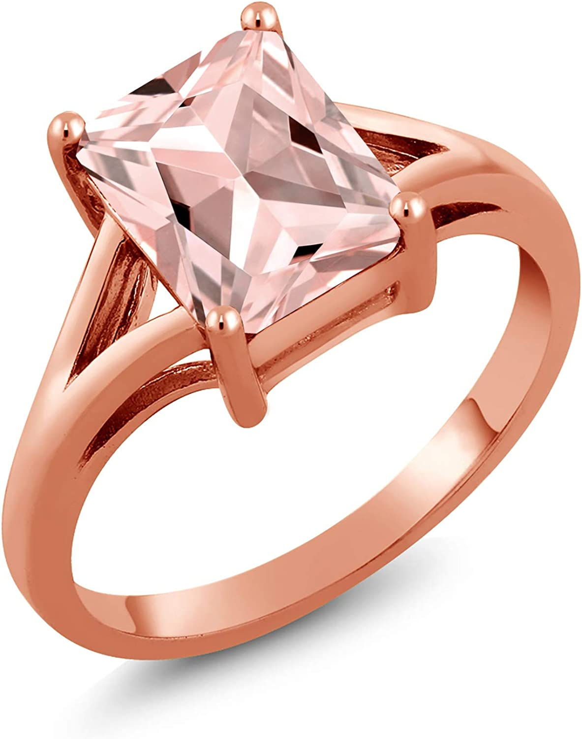 Gem Stone King 2.00 Ct Popular shop is the lowest price challenge Low price Octagon Ros Peach Morganite Simulated 18K