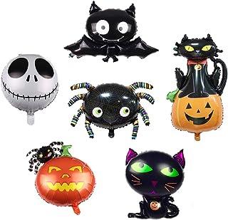 6 Pcs Large Halloween Foil Balloons Black Spider Cat Bat Pumpkin Skull Balloon Decoration Party Supplies