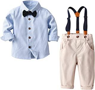 Nwada v/êtement Bebe gar/çon B/éb/é Gar/çon Ensembles Pantalons et Haut Bambin des Gamins Tenues Chemises Noeuds Papillon