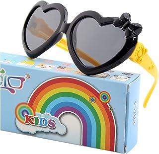 WHCREAT Bambini Polarizzati Occhiali da Sole Montatura in gomma flessibile per Ragazze Ragazzi di et/à compresa tra 3 e 10 anni
