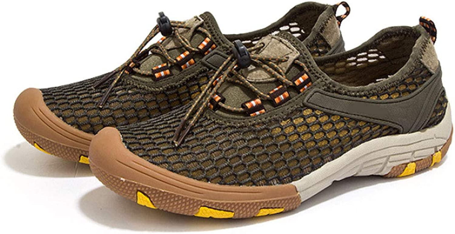 JHHXW River shoes, breathable mesh waterproof and quick-drying shoes, summer men's shoes, outdoor hiking shoes, non-slip, creek, wading, mesh shoes, sports shoes