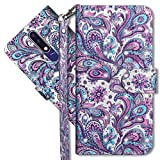 MRSTER Nokia 3.1 Plus Handytasche, Leder Schutzhülle Brieftasche Hülle Flip Hülle 3D Muster Cover mit Kartenfach Magnet Tasche Handyhüllen für Nokia 3.1 Plus 2018. YX 3D - Peacock Flower