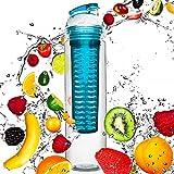 #DoYourFitness Trinkflasche mit Früchtebhälter Fruchteinsatz 800ml   Wasserflasche/Sportflasche...