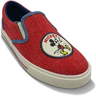 Junk Food Boys' Disney Mickey Mouse Sneakers from (3, Red)