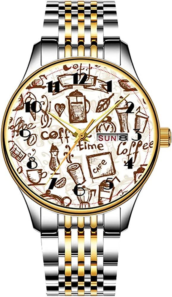 Christmas Watches Men's Phoenix Mall Fashion Japanese Quartz Stainless Date New product!! S