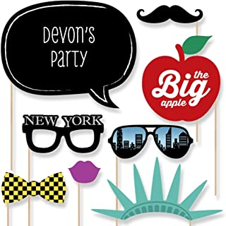 Custom New York Photo Booth Props Kit - Personalized New York Party Accessories - NYC Party Supplies - 20 Selfie Props