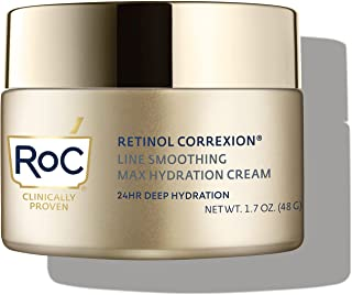 مرطب الوجه ريتينول كوريكسيون ماكس اليومي المضاد للشيخوخة من RoC مع حمض الهيالورونك، 1.7 أونصة (قد تختلف العبوة)