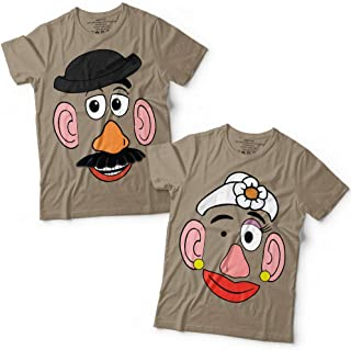 Potato Head Mr/Mrs Couple Toy Halloween Costume Group Matching Customized Handmade T-Shirt Hoodie/Long Sleeve/Tank Top/Sweatshirt