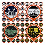 Fresh Roasted Coffee LLC, Bold Artisan Blends Coffee Pod Variety Pack, Medium-Dark & Dark Roast, 72 Count
