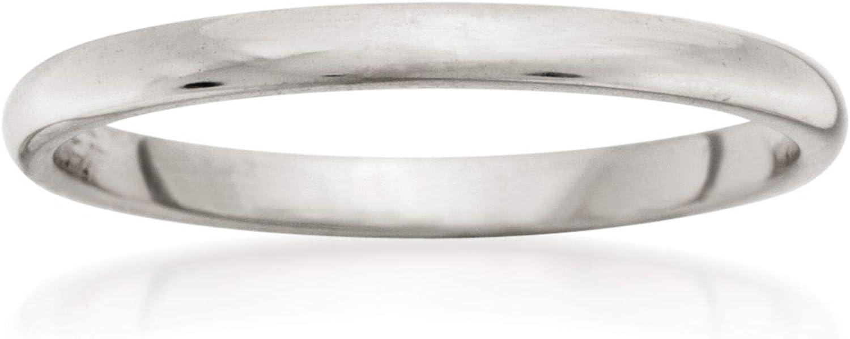 Ross-Simons Women's 2mm 14kt White Gold Wedding Ring