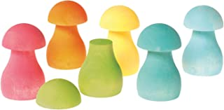 Pastel Rainbow Mushrooms for Sorting, Stacking, Building & Playing Games