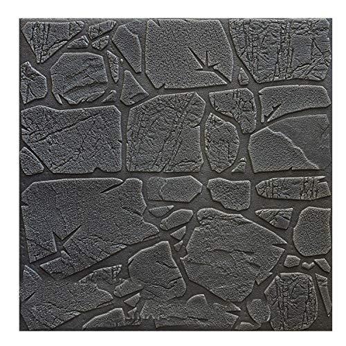 Self-Adhesive 3D-Wand-Aufkleber Dekorative Schlafzimmer Bedside Wohn Toom TV Hintergrund Wand-Papier Wasserdicht Stein Tapete Style 1 70cm x 70cm
