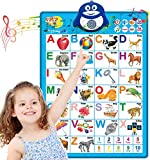 Dolanus Electronic Interactive Alphabet Wall Chart, ABC & 123s Music Talking Poster Educational Toys, Best Educational Toy for 2 Year olds and 3 Year olds, Toddler Toys for Boys & Girls.