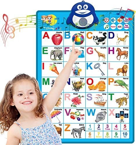 Dolanus Electronic Interactive Alphabet Wall Chart ABC amp 123s Music Talking Poster Educational Toys Best Educational Toy for 2 Year olds and 3 Year olds Toddler Toys for Boys amp Girls