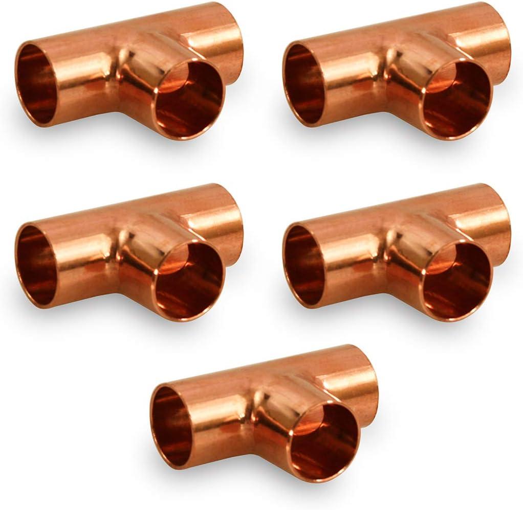"1//2/"" Elbows Cap /& Couplings Tees Copper Fitting Solder Sweat CxC 50 PCS"