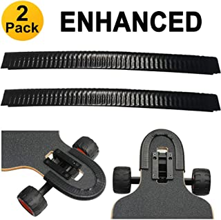 SENSIVO Skateboard Deck Guards Protector, Excellent Edge Protection, Longboard Nose Guard and Tail Guard, Durable Shock Absorbing Rubber Cover, Rubber Strip(Pack of 2)