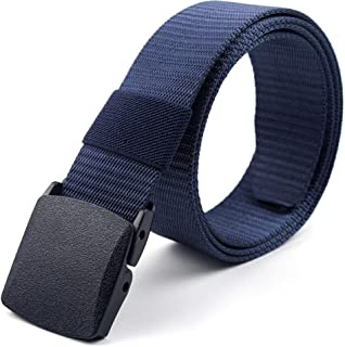 Nylon Military Tactical Belt Webbing Canvas Outdoor Web Belt with Plastic Buckle