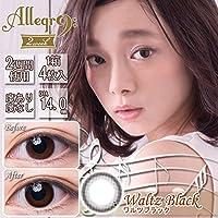アレグロ(Allegro)2Week【2週間カラコン】【1箱4枚入り/DIA14.0mm/BC8.6】 (-4.75, ワルツブラック)