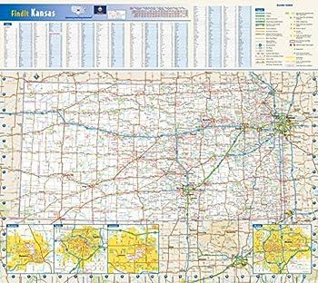Kansas State Wall Map - 20.75  x 18.5  Paper