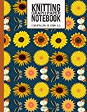 Knitting Graph Paper Notebook: Beautiful Knitters Journal for Sunflower and Butterfly Lovers (Knitting Gifts for Knitters)