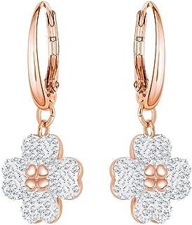 Swarovski Women's White Rose-gold tone plated Latisha Pierced Earrings 5420249