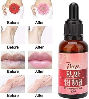 Skin Lightening Essence, 30ml Private Essence Skin Lightening Underarm Nipple Whitening Body Creams Repair Between Legs Knees Private Part Bleaching Lip Rejuvenating Pinkish Serum