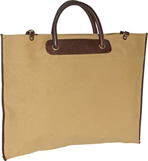 Clava Canvas/Leather Roll-Up Tote