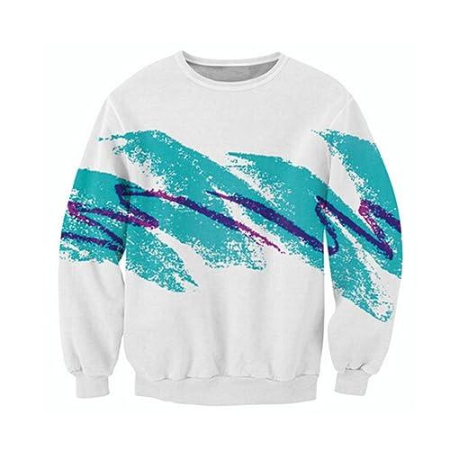40c4d162b3 Uideazone Unisex 3D Fashion Graffiti Collection Crewneck Tank Hoodie  Sweatshirt Jumpsuit Swim Trunk