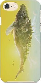 ブレインズ Android One S8 S8-KC ハード スマホ ケース カバー くじらの惑星 ウエダマサノブ 縄文じいさん くじら クジラ whale 都市 黄色 イエロー 惑星 イラスト ファンタジー