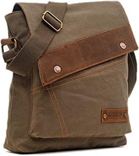 Leparvi Medium Canvas Crossbody Bag Rucksack Bag Vintage Shoulder Bag Unisex