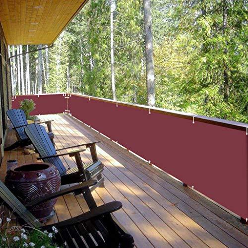 Malla Protectora Balcon 75x700cm Tela Resistente al Agua Lona ocultación Instalación Simple...