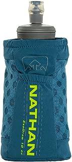 Nathan Grip Running Soft Flask BPA Free Water Bottle with Pocket, Blue Radiance, 18 oz