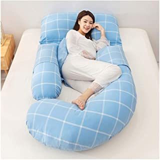 ZSEFV Full Body Support Pillow Total Body Pregnancy Wrap Around Ultra Supportive Sleeping Pillow Maternity Pillow for Side Sleeping (Color : A)