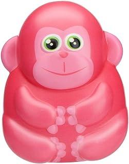 トリグルカートゥーン モンキー 減圧おもちゃ スクイッシー おもちゃ かわいい 愛らしいモンキーおもちゃ 低反発 クリームの香り ストレス解消おもちゃ ギフト Free Size ピンク Trigle 001